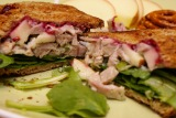 Do It Yourself Thin Bread and Turkey Apple Cranberry Sandwich