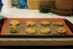 Vegan Oatmeal Cookies on a cookie sheet