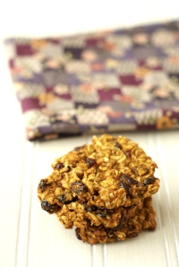 Three oatmeal cookies