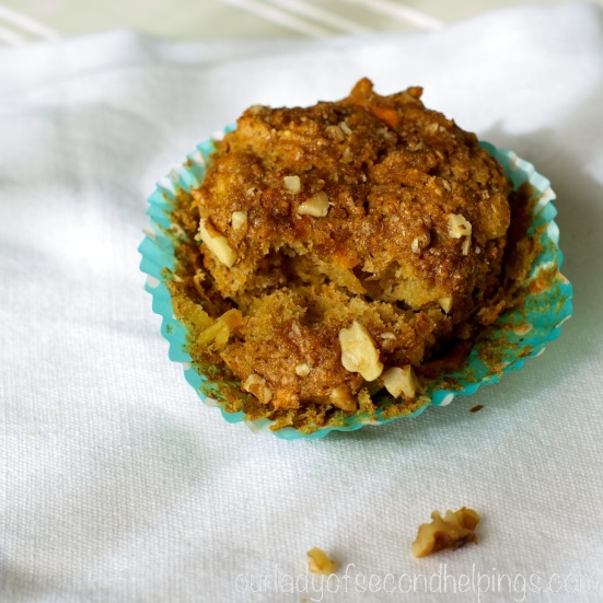 A lightened version of a Morning Glory Muffin