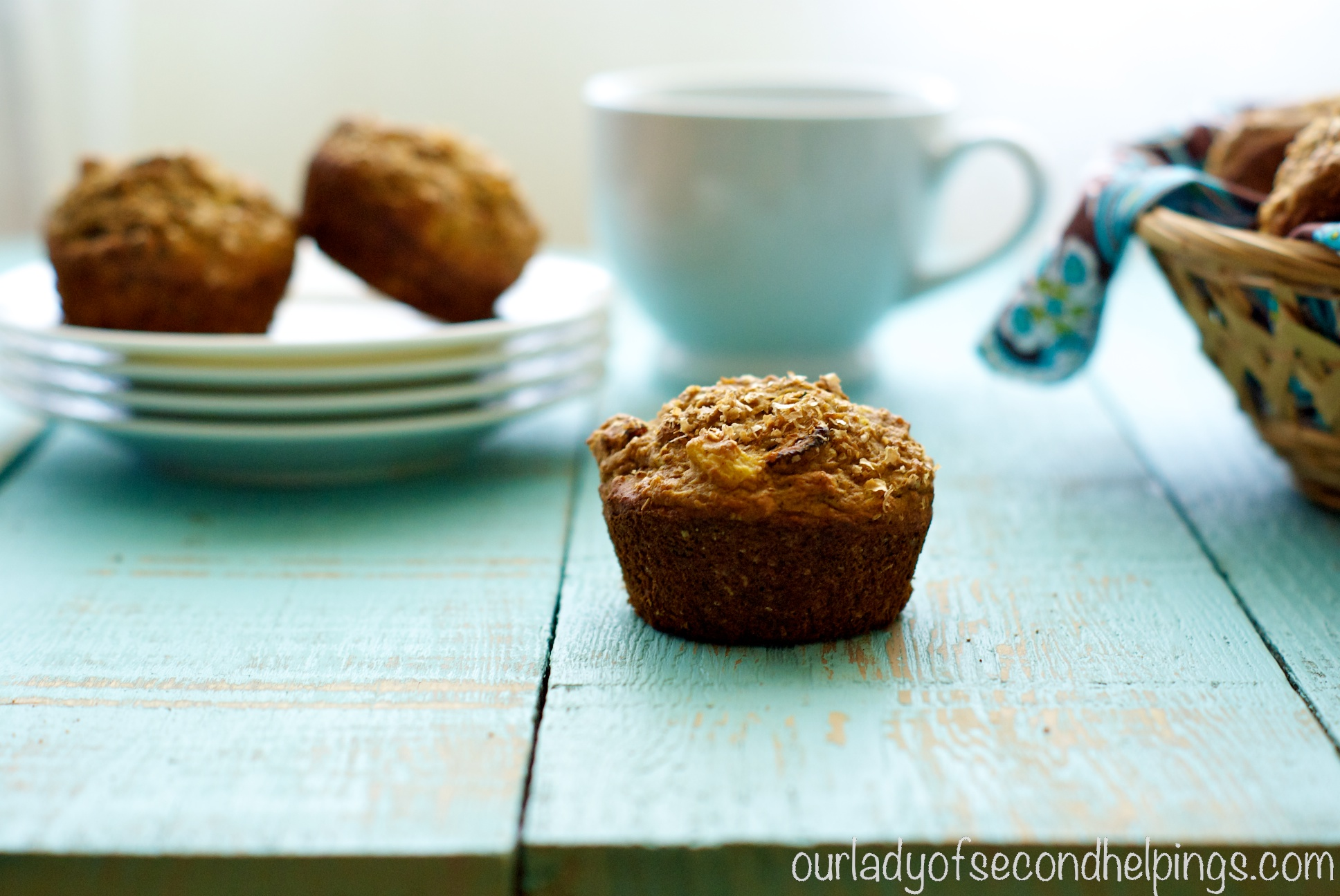 Good Morning Muffins - A Coffee House Favorite Lightened up!
