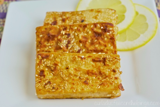 Slices of Sesame-Crusted Tofu