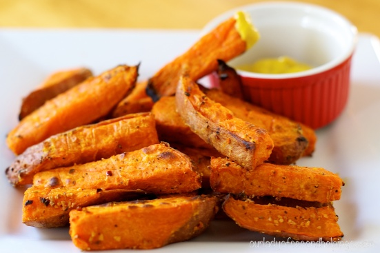 Oven Baked Sweet Potato Fries with Mustard