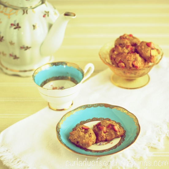 Tea Party with rhubarb cookies