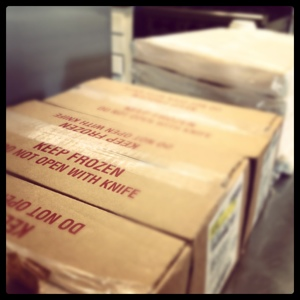 Boxes of Frozen Foods