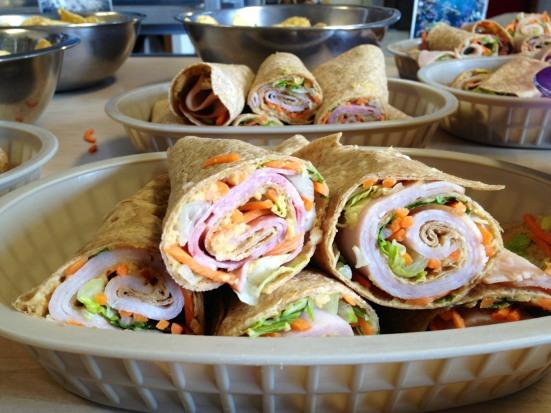 Tortillas, Hummus, & Turkey wraps
