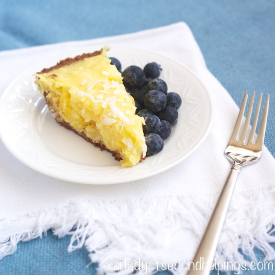 Summery pineapple and coconut pie