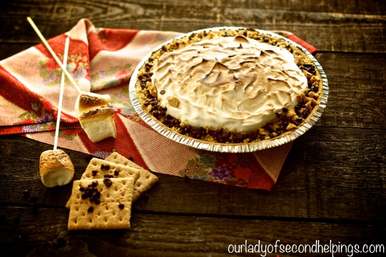 Chocolate, Graham, Marshmallow Pie