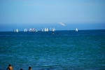 Sailboats off Santa Cruz Beach