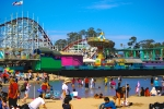 Beach side amusement park