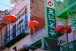 Red Paper Lanterns and Chinese Signs