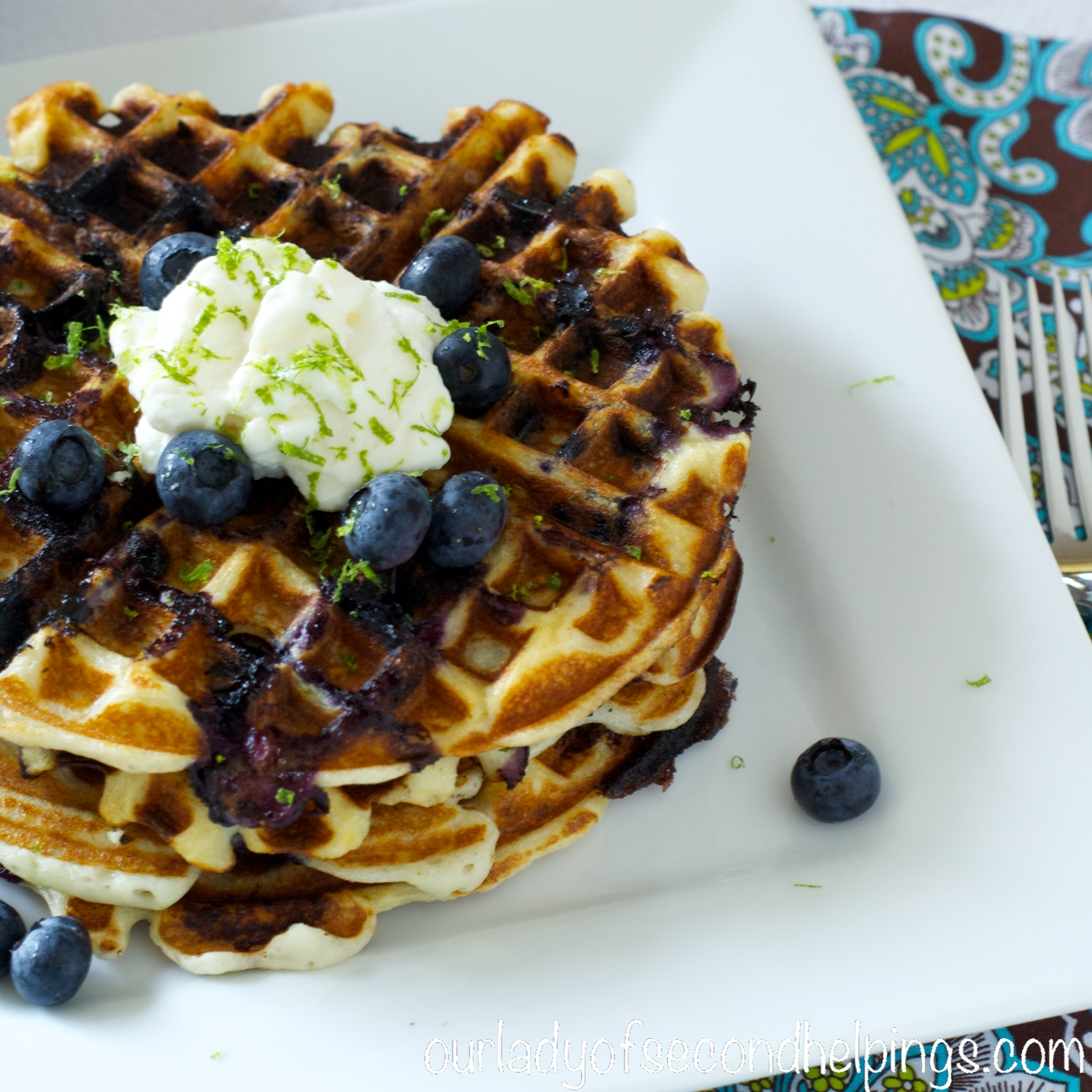 Back to School Breakfast - Blueberry Lime Waffles - Our Lady of Second ...