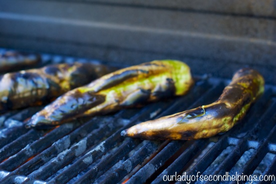Hatch Chilies on a Grill