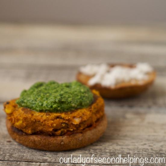 Sweet Potato Burger with Pesto