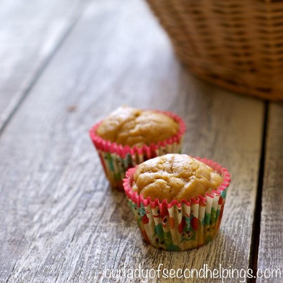 two mini pumpkin muffins