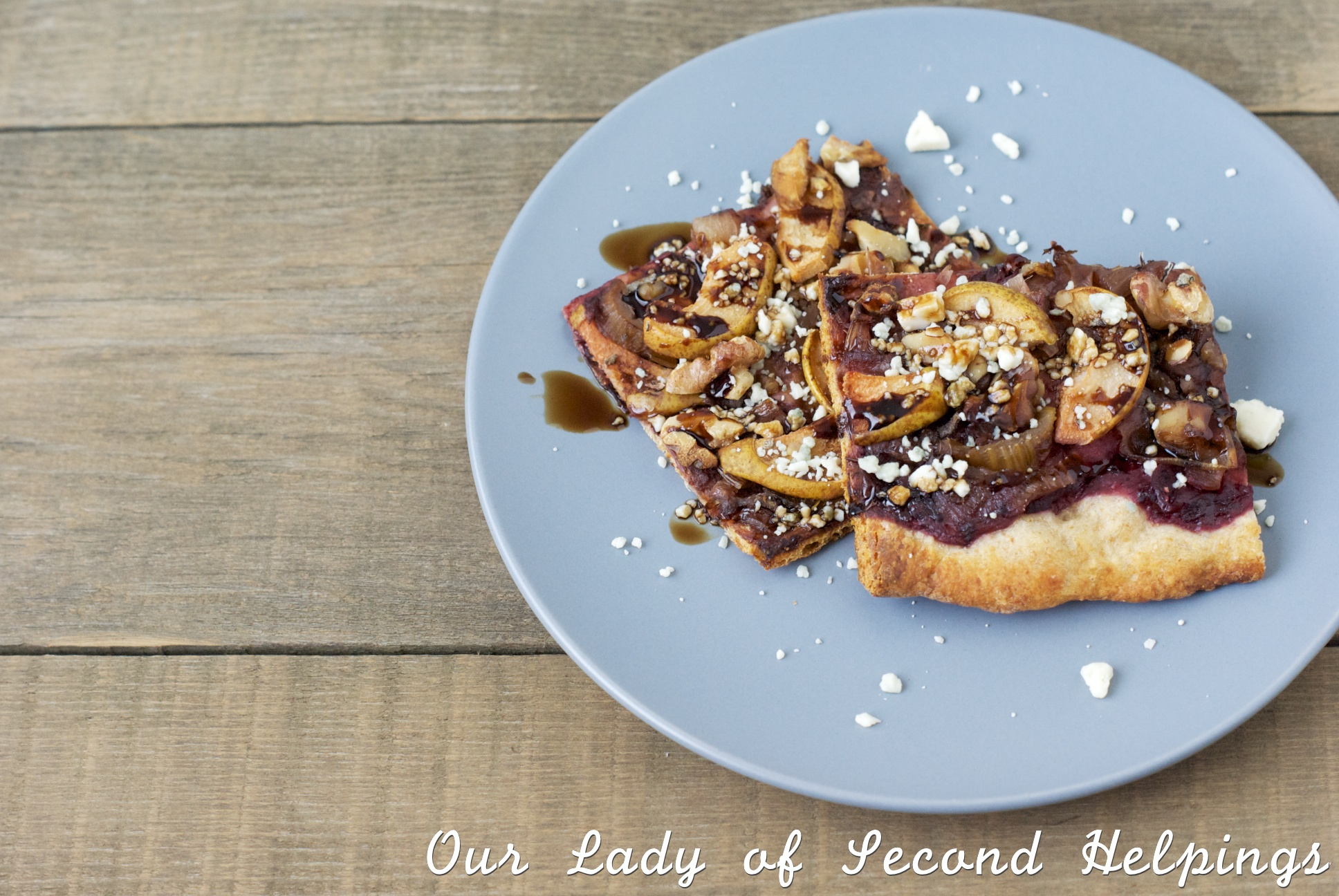 Savory Autumn Pear & Walnut Pizza