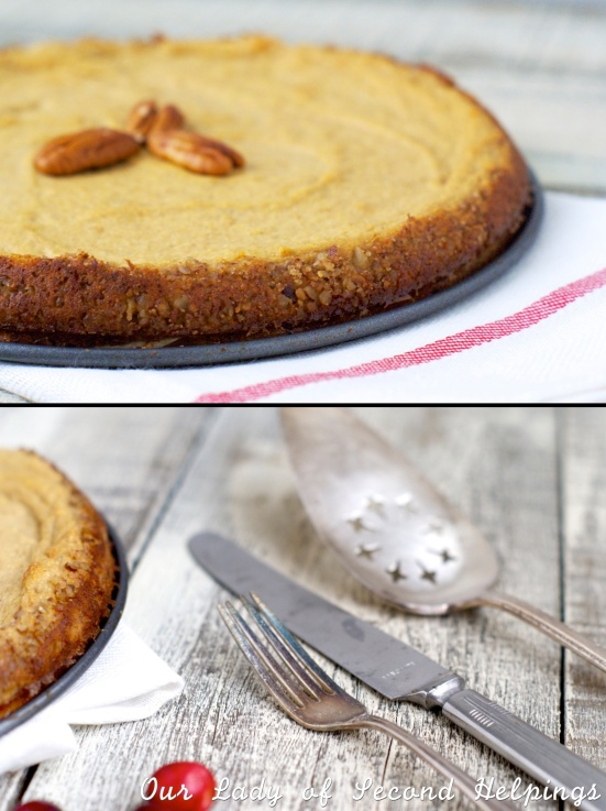 crustless pumpkin pie - gluten free, low fat