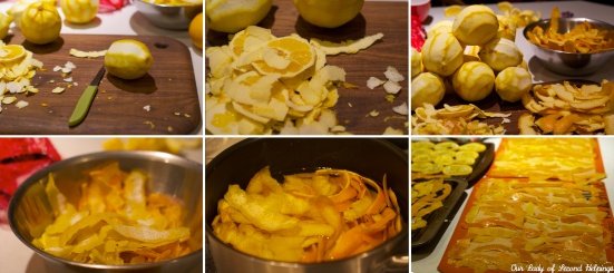 Making Candied Citrus Peels