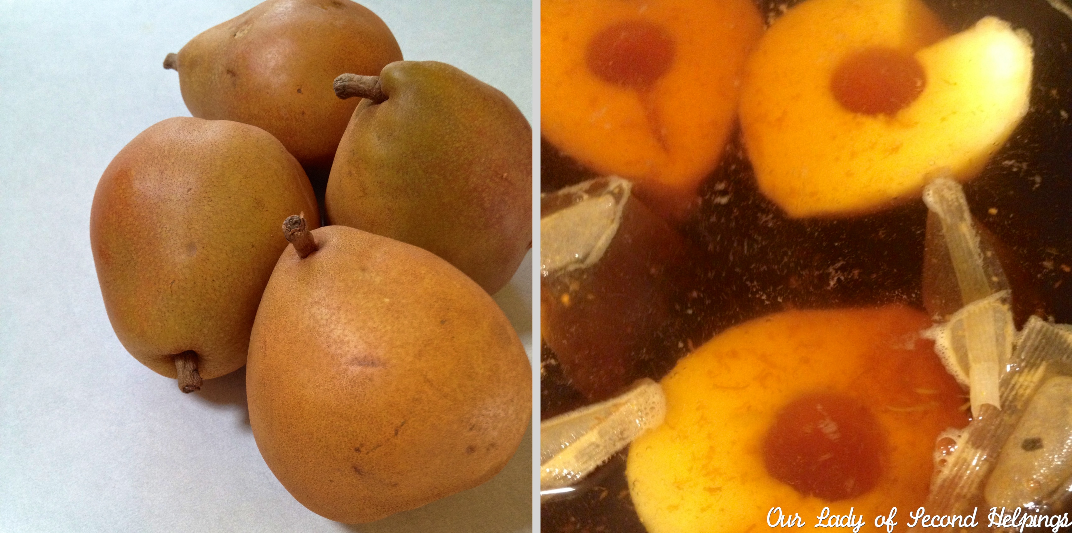 Poached Bartlett Pears