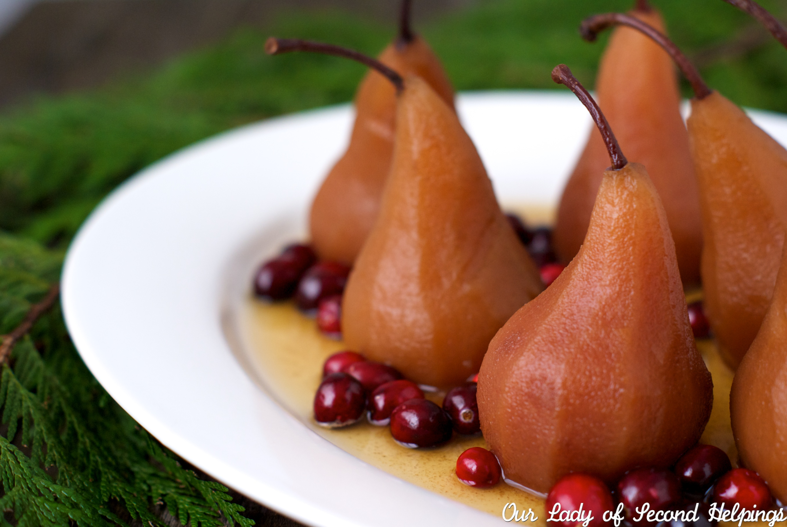 Tea Poached Pears