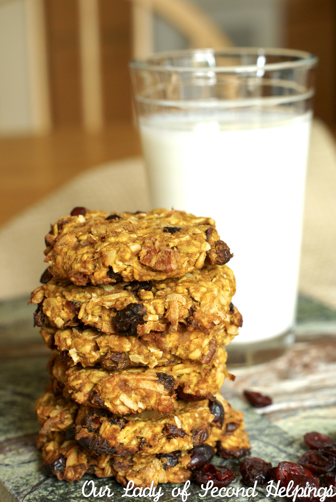 Vegan Coconut Oatmeal Cookies - GF