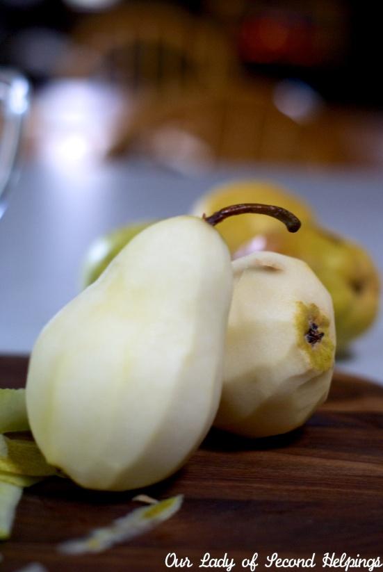 Pealed Bartlett Pears