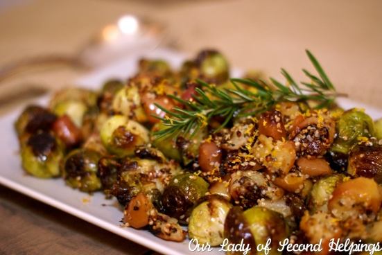 Rosemary Roasted Brussels Sprouts with Apples