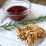 Lighter than Air Chicken Nuggets with Cranberry BBQ Sauce