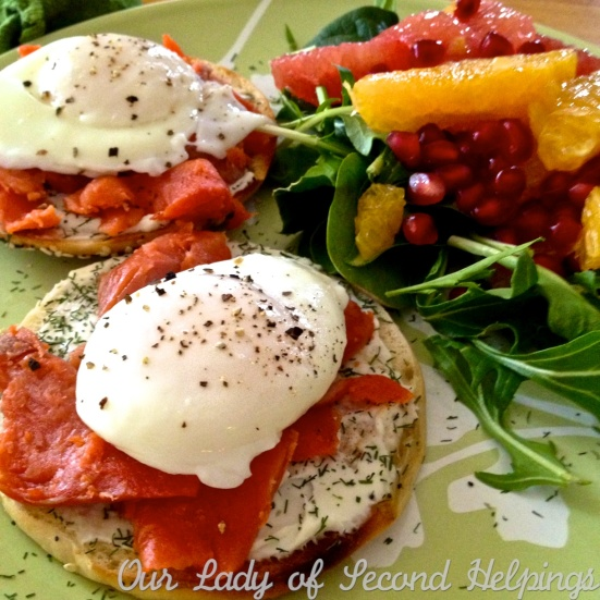 Poached Eggs over Smoked Salmon