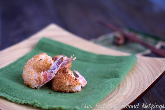 Baked Coconut-Ginger Shrimp