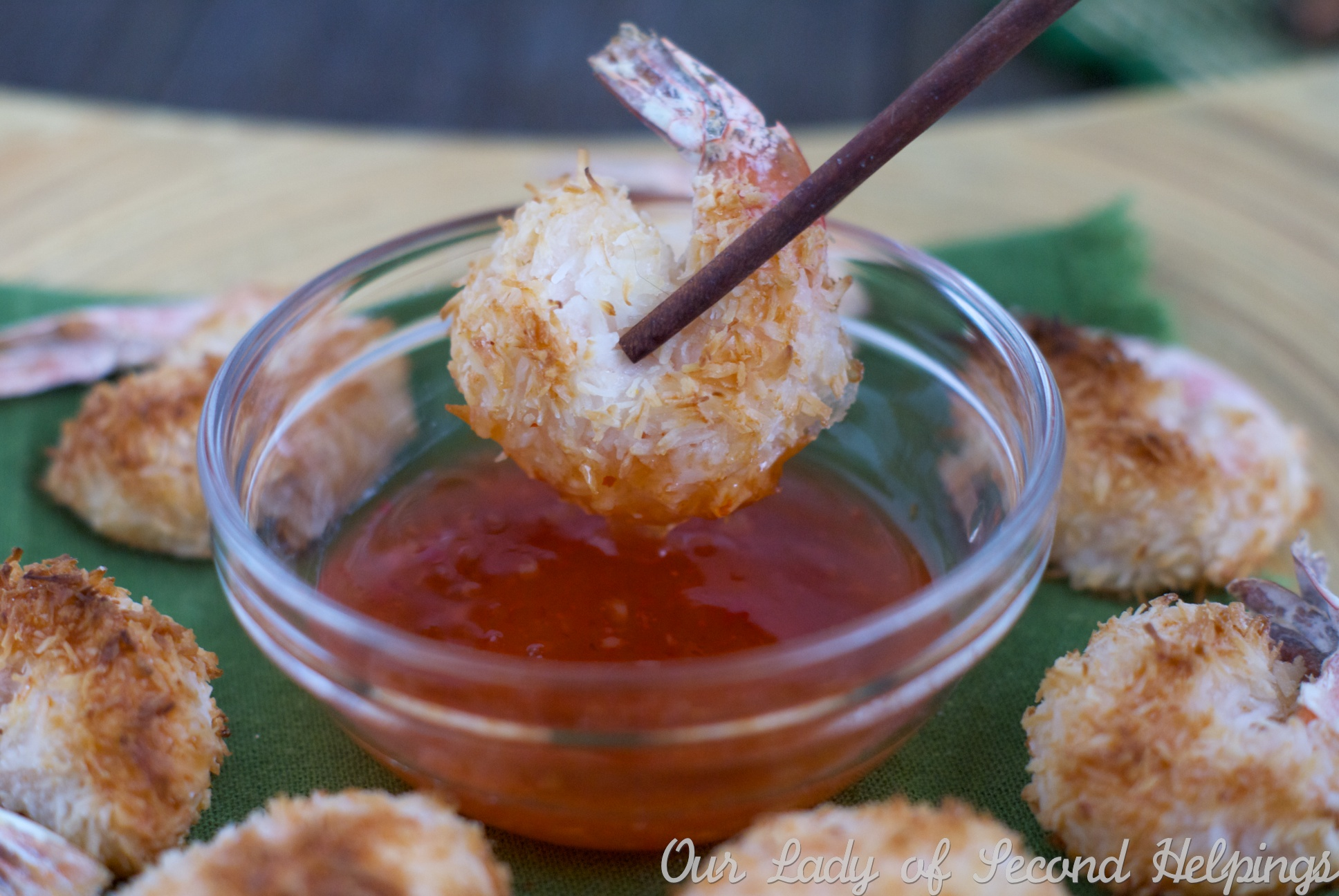 Baked Coconut-Ginger Shrimp | Our Lady of Second Helpings
