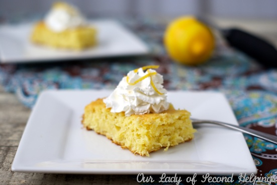 3 Ingredient Lemon Cake | Our Lady of Second Helpings