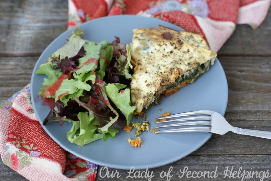 Sweet Potato, Caramelized Onion and Blue Cheese Crustless Quiche | Our Lady of Second Helpings
