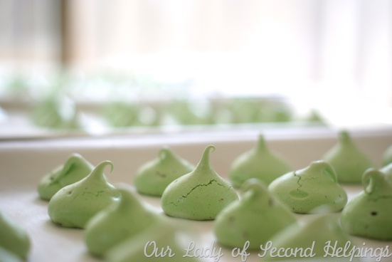 Dark Chocolate Mint Meringues | Our Lady of Second Helpings