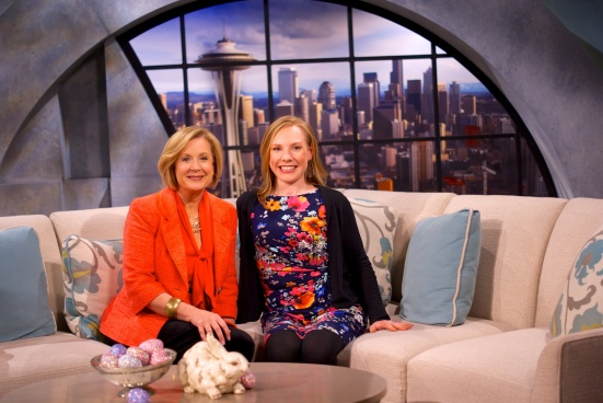 New Day Northwest Host Margaret Larson and Our Lady of Second Helpings blogger Rose McAvoy