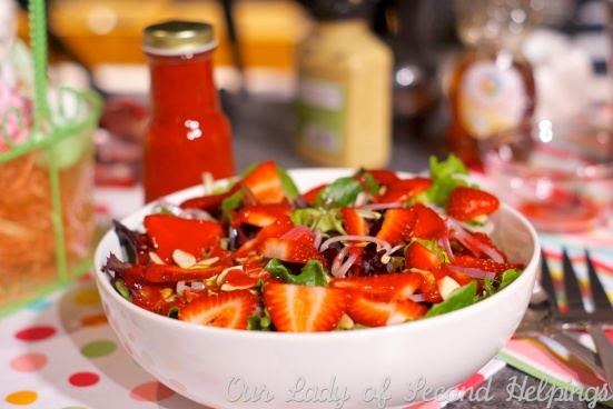 Spring Salad with Fresh Raspberry Vinaigrette - fat free | Our Lady of Second Helpings