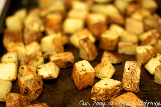 Perfect Crispy Herb Roasted Potatoes | Our Lady of Second Helpings