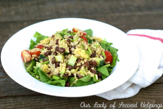 Zesty Black Bean & Brown Rice Salad | Our Lady of Second Helpings