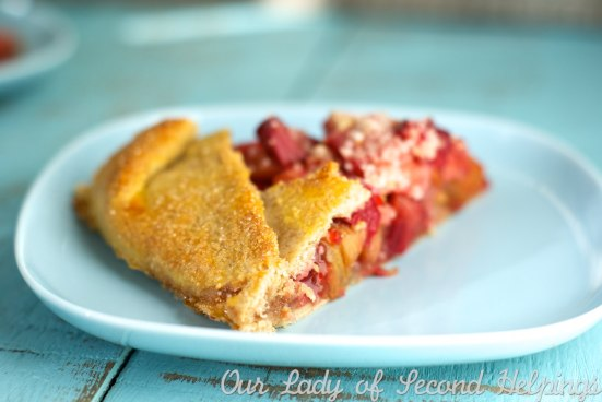 Strawberry Rhubarb Galette | Our Lady of Second Helpings