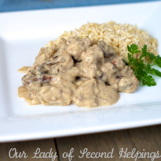 Beefy Mushroom Stroganoff - Lightened Up! | Our Lady of Second Helpings