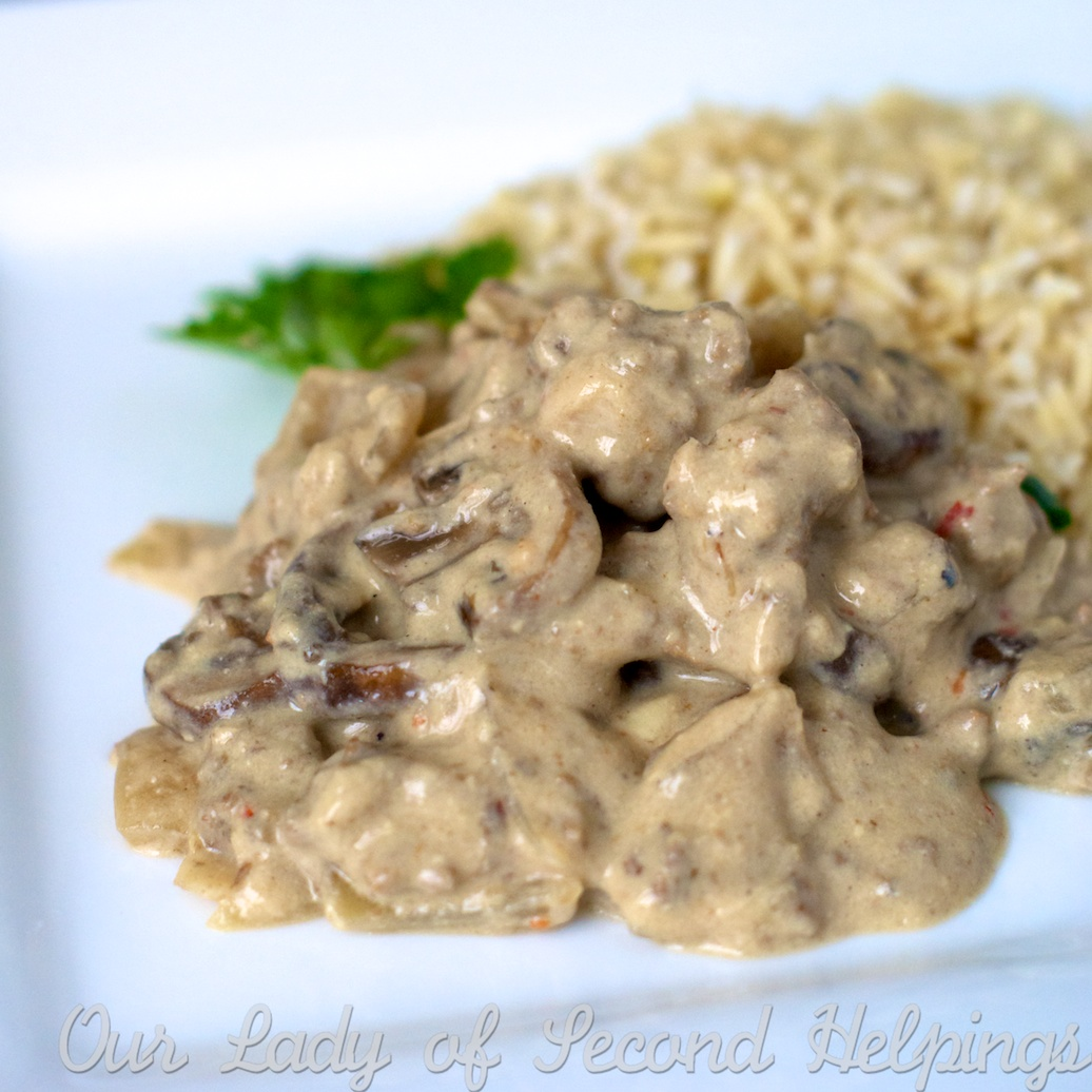 Beefy Mushroom Stroganoff - Lightened Up! | Our Lady of Second ...