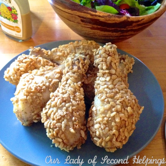 Super simple family favorite - Crispy Cereal Coated Chicken