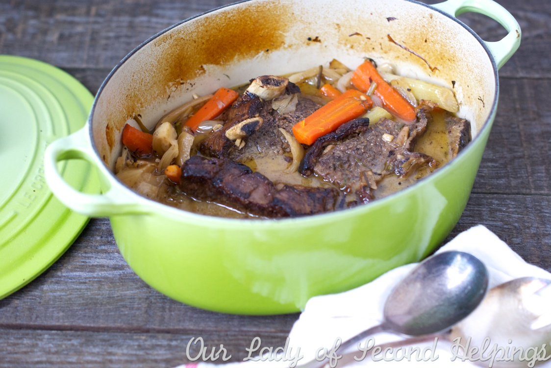 Orange Braised Beef Short Ribs with Fennel & Carrots | Half Her Size