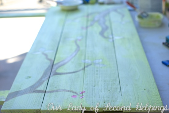 Upcycled - Hand Painted Headboard