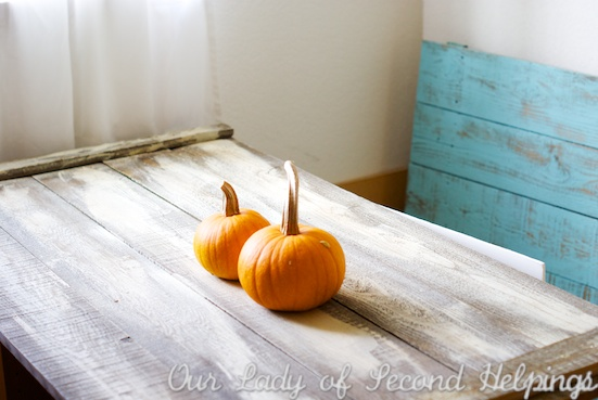 Upcycled - Turn fence boards into table tops