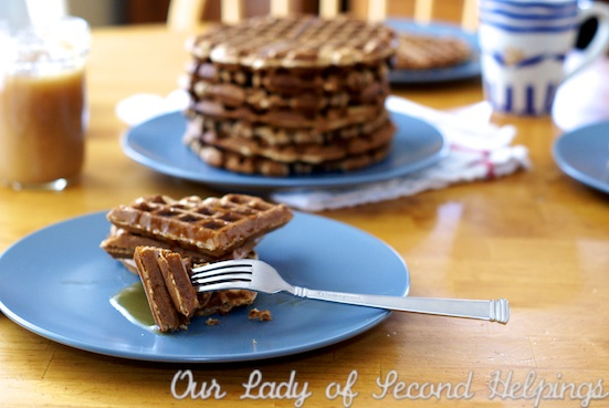 Hearty Whole Wheat Waffles | Our Lady of Second Helpings