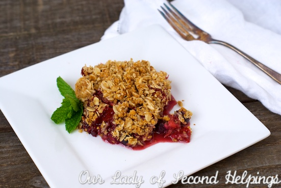 Oat & Graham topped Summer Berry Crumble | Our Lady of Second Helpings