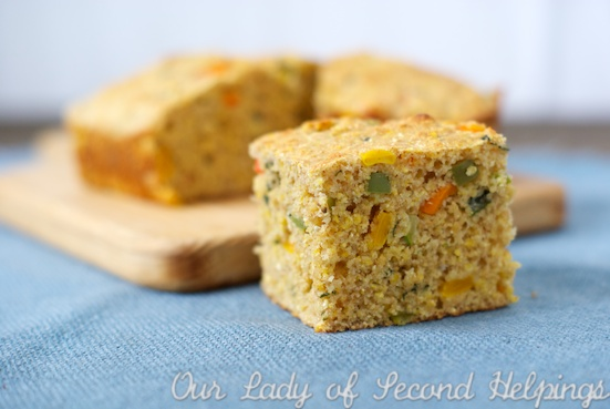 Healthy Confetti Cornbread | Our Lady of Second Helpings