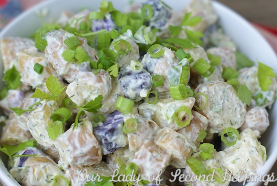 Picnic Perfect Fingerling Potato Salad | Our Lady of Second Helpings