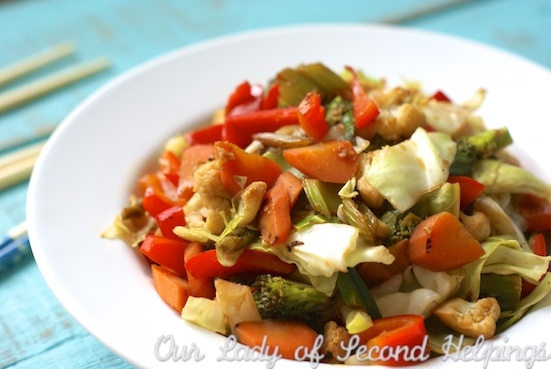 Quick Colorful Stir-Fry| Our Lady of Second Helpings